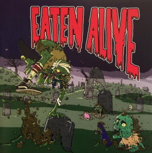 "Eaten Alive - Eaten Alive EP (7"") (Black/Green Mix Vinyl) (NM/NM)"